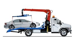 Vector tow truck template isolated on white Stock Image