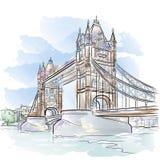 Vector Tower Bridge in London vector illustration