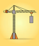 Vector tower crane Royalty Free Stock Images