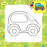 Vector toy car Royalty Free Stock Image
