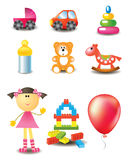 Vector toy icons Royalty Free Stock Photo