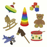 Vector toy icons. Baby toys royalty free illustration
