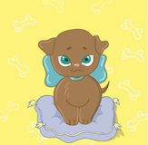 Vector toy puppy Royalty Free Stock Photos