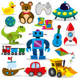 Vector Toy Set Royalty Free Stock Photo
