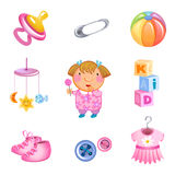 Vector toys and accessories Stock Image