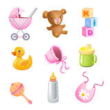 Vector toys and accessories Stock Photography