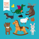 Vector Toys Animals Stock Image