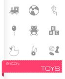 Vector toys icon set Royalty Free Stock Photography