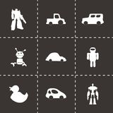 Vector toys icons set Stock Images