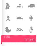 Vector toys icons set Royalty Free Stock Photos