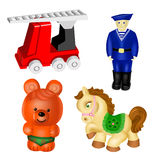 Vector toys. set 2 Royalty Free Stock Photos