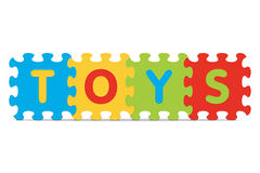 Vector TOYS written with alphabet puzzle Stock Photo