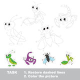 Vector trace educational game for preschool kids. Stock Photos