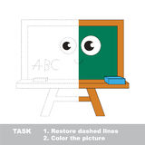 Vector trace educational game for preschool kids. Royalty Free Stock Photography