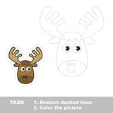 Vector trace game. Elk to be traced. Royalty Free Stock Photo
