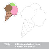 Vector trace game. Ice-cream to be traced. Royalty Free Stock Photography