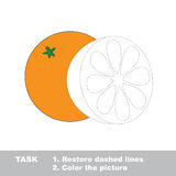 Vector trace game. Orange to be colored. Royalty Free Stock Photos