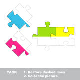 Vector trace game. Puzzle to be colored. Stock Photos