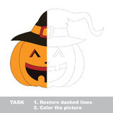 Vector trace game. Umbrella to be colored. Stock Images