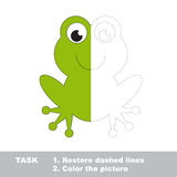 Vector trace game. Umbrella to be colored. Royalty Free Stock Images