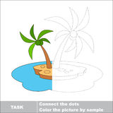 Vector trace game. Umbrella to be colored. Royalty Free Stock Photos