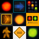 Vector Tracffic Lights Collection Stock Images