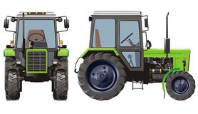 Vector tractor royalty free stock photography