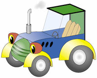 Vector tractor Stock Image
