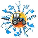 Vector Tractor Equipment Concept Stock Photos
