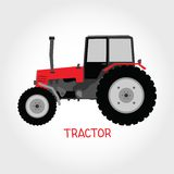 Vector tractor Stock Photo