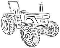 Vector tractor. Illustrated isolated tractor clip art image Stock Photography