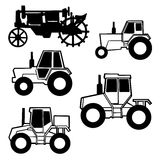 Vector tractor set Stock Images