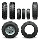 Vector Tractor Tires Stock Photo