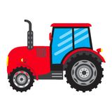Vector Tractor vehicle farm auto car icon  Royalty Free Stock Images