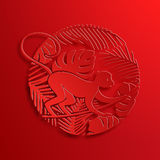 Vector Traditional Chinese Monkey Paper Cutting Stock Photo