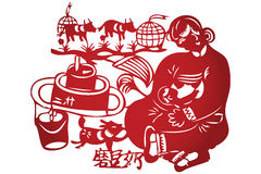 Vector of Traditional Chinese Paper-cut Stock Images