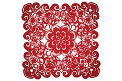 Vector of Traditional Chinese Paper-cut Stock Photography