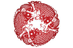 Vector of Traditional Chinese Paper-cut Royalty Free Stock Image