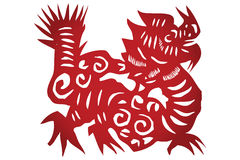 Vector of Traditional Chinese Paper-cut Royalty Free Stock Images