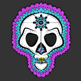 Vector Traditional Colored Mexican Sugar Skull Royalty Free Stock Images