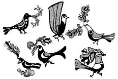 Vector traditional elements. Traditional folk handmade  illustrations Stock Photography