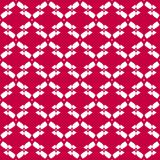 Vector traditional folk style seamless pattern. Festive design element. Vector abstract geometric seamless pattern. Red and white colors. Traditional folk style Royalty Free Stock Photo