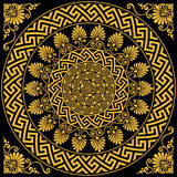 Vector Traditional vintage gold Greek ornament Meander Stock Photo