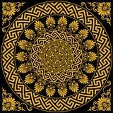 Vector Traditional vintage gold Greek ornament Meander Stock Photo