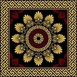 Vector Traditional vintage gold Greek ornament Meander Stock Images