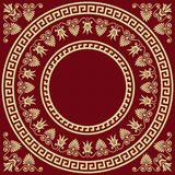 Vector Traditional vintage gold Greek ornament Stock Images