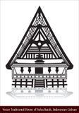 Vector Traditioneel Huis van Suku Batak, Indonesische Cultuur royalty-vrije stock afbeelding