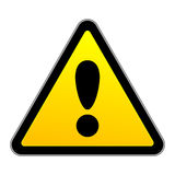 Vector traffic attention sign Royalty Free Stock Photos