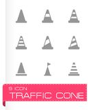 Vector traffic cone icon set Royalty Free Stock Photo