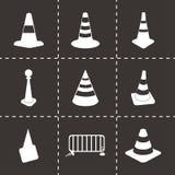 Vector traffic cone icons set Stock Photos